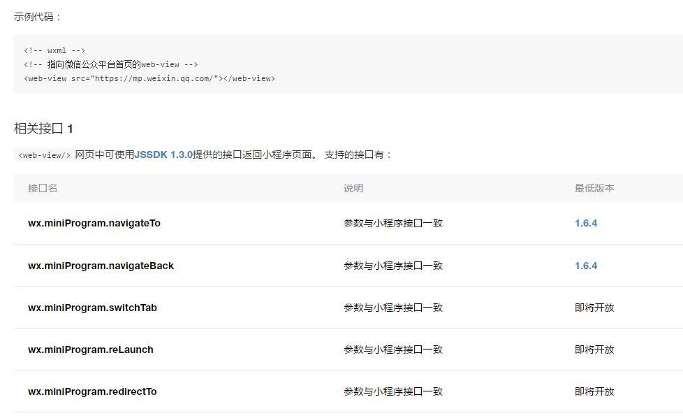 小程序内嵌网页